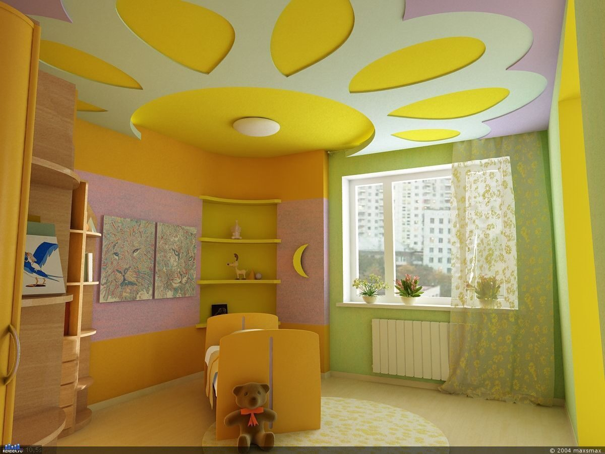 Как сделать потолок в детской своими руками